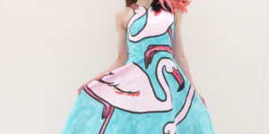 My Hand Painted Dress with Pink Flamingos